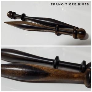 bolillos de ebano tigre