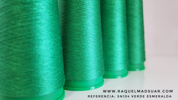 seda natural verde esmeralda