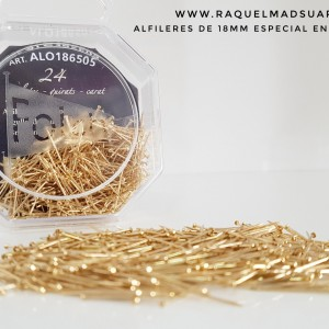 alfileres 18mm oro
