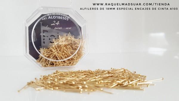 alfileres 18mm oro