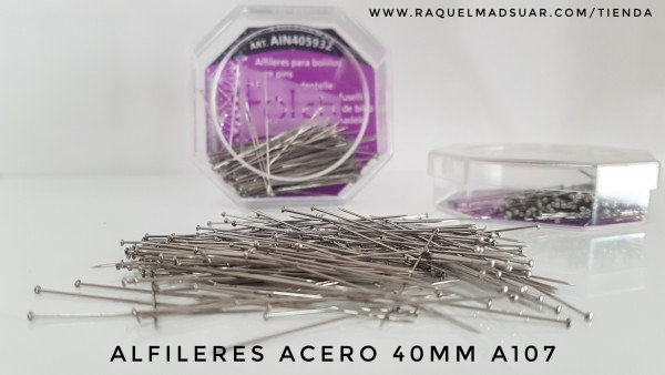alfileres acero 40mm