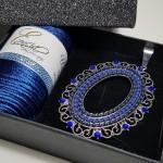 Colgante Esencia Azul Ovalado