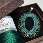 Colgante Esencia Verde Ovalado