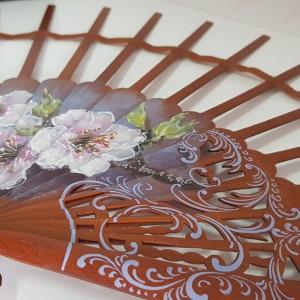 varillas decoradas para abanicos