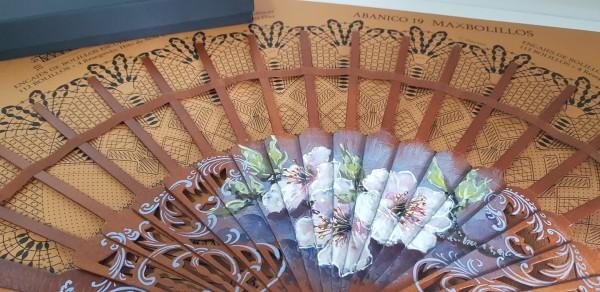 varillas decoradas para abanico